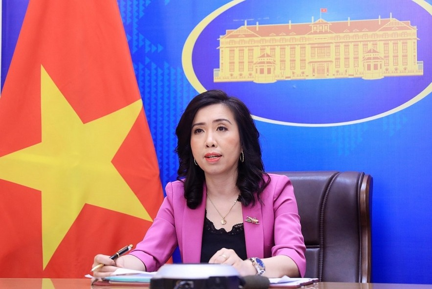Spokeswoman for the Ministry of Foreign Affairs Le Thi Thu Hang. Photo: VOV