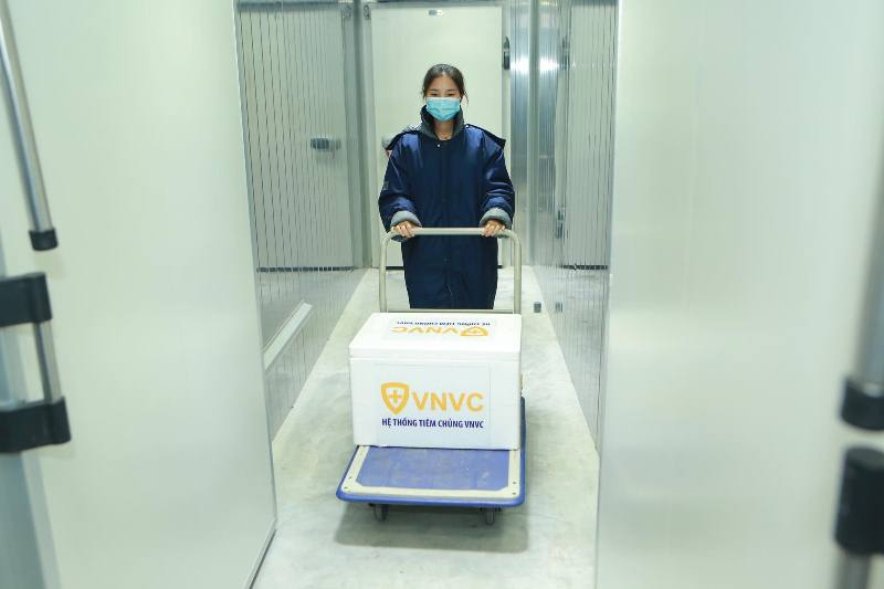 Medical workers at Hanoi's Thanh Nhan hospital receive Covid-19 vaccine