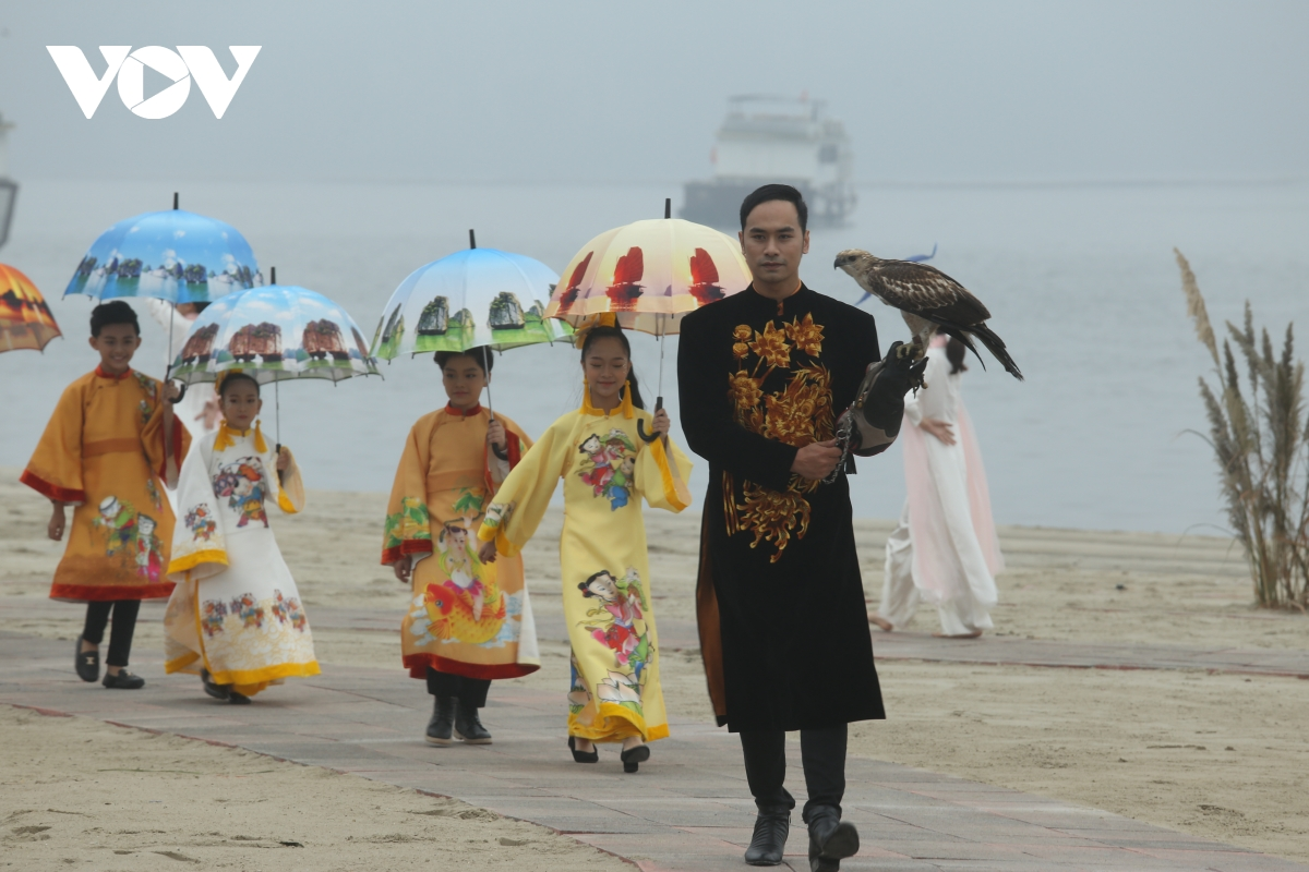 ao dai festival themed quang ninh 2020 heritage land held to promote tourism