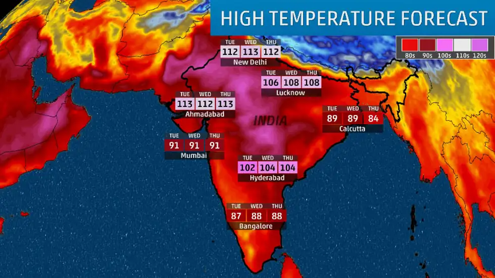 Daily Weather Forecast for India
