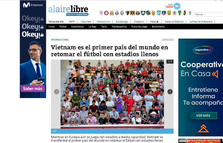 Global press lauded Vietnamese football for early return amid COVID-19 pandemic