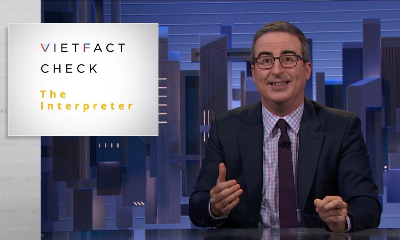 Vietnamese Fact-checkers Feature on John Oliver Show