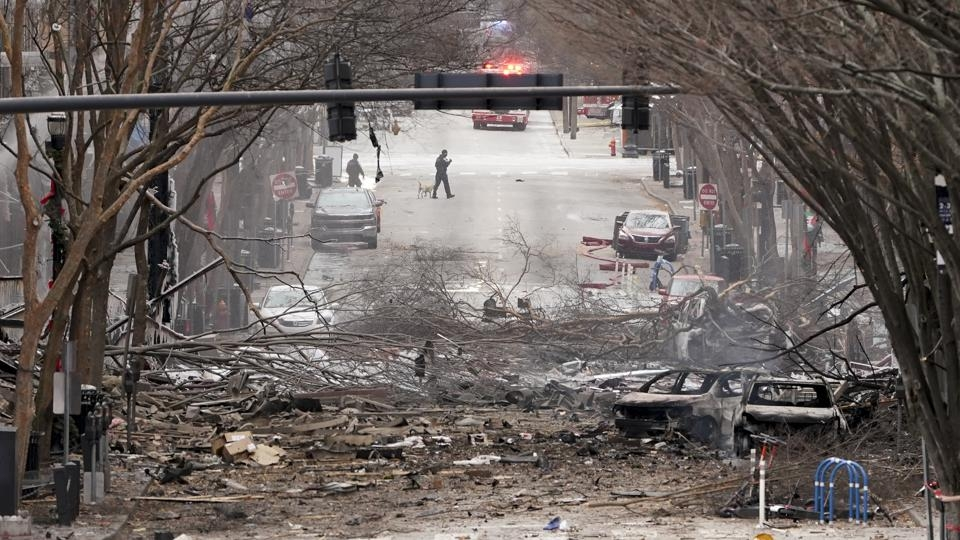 Large bomb that wrecks buildings in Nashville is 'deliberate'