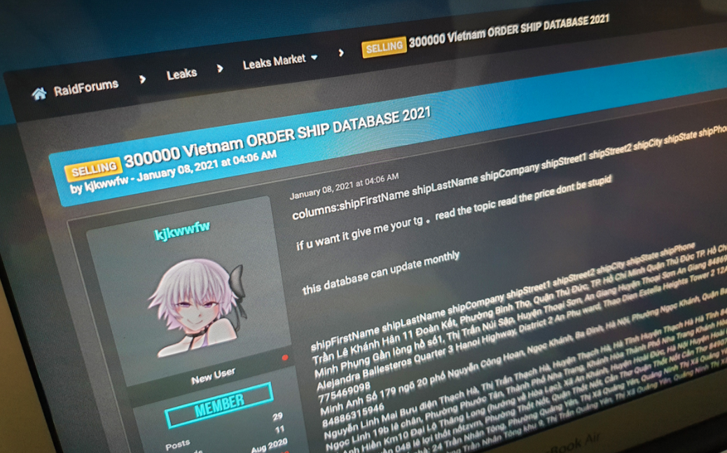 300000 vietnamese internet accounts offered for sale by hackers