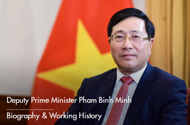 Deputy Prime Minister Pham Binh Minh: Biography, Positions and Working History