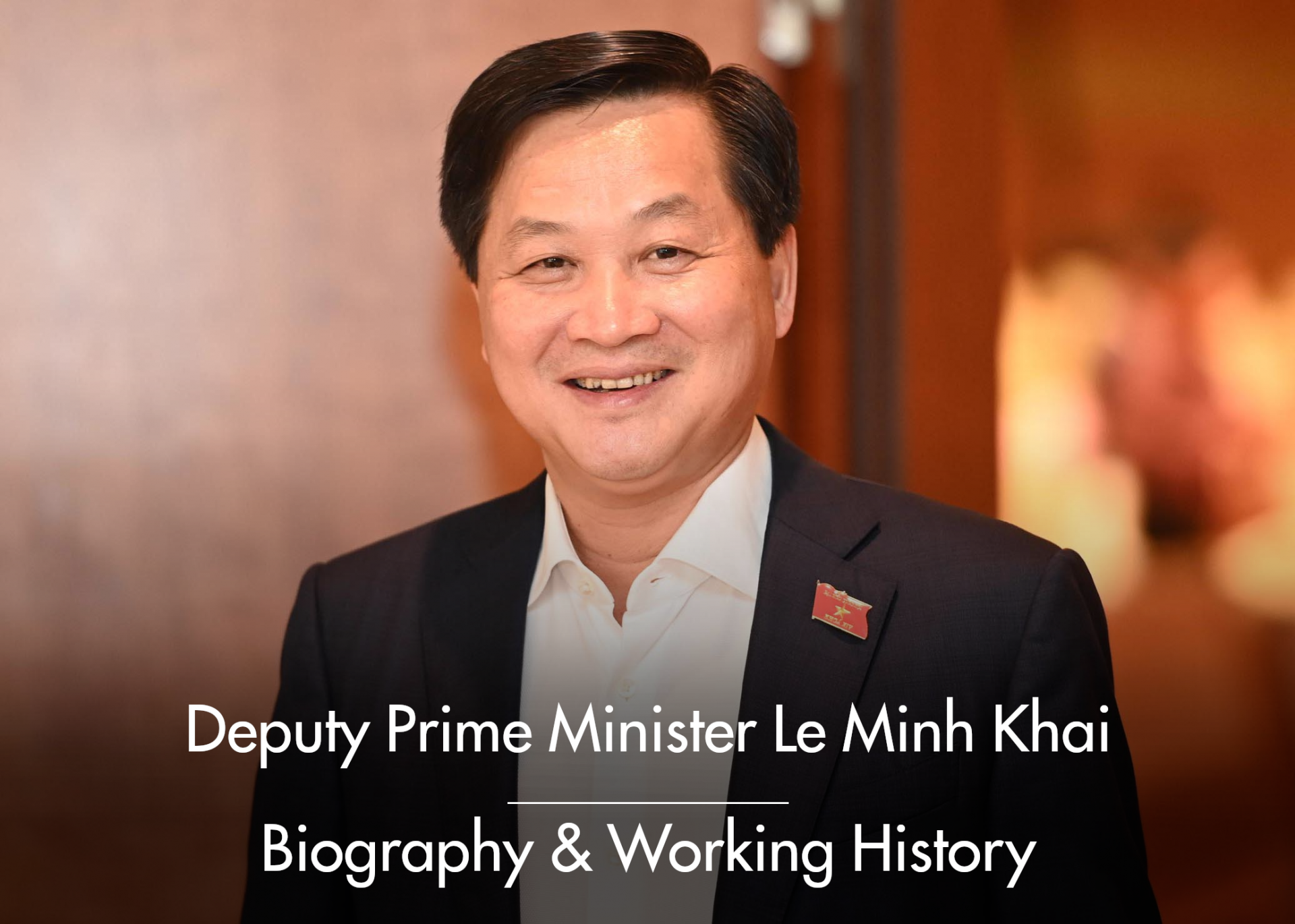 Deputy Prime Minister Le Minh Khai: Biography, Positions and Working History