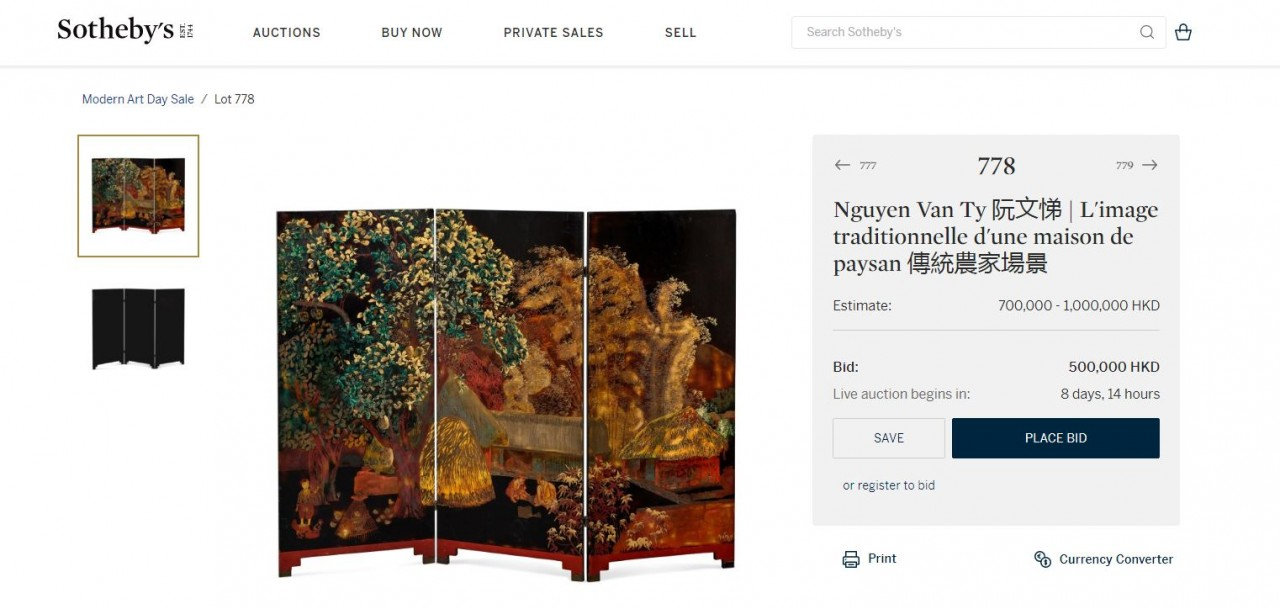 Family of Late Vietnamese Painter Accusing Hong Kong Auction House of Selling Fake Painting