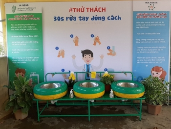 ireland funds hand washing basins to help prevent coronavirus spread in quang tri