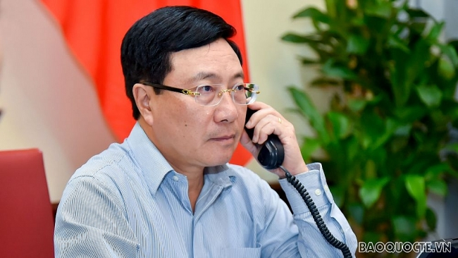 Deputy PM and FM held phone talks with Angolan Foreign Minister