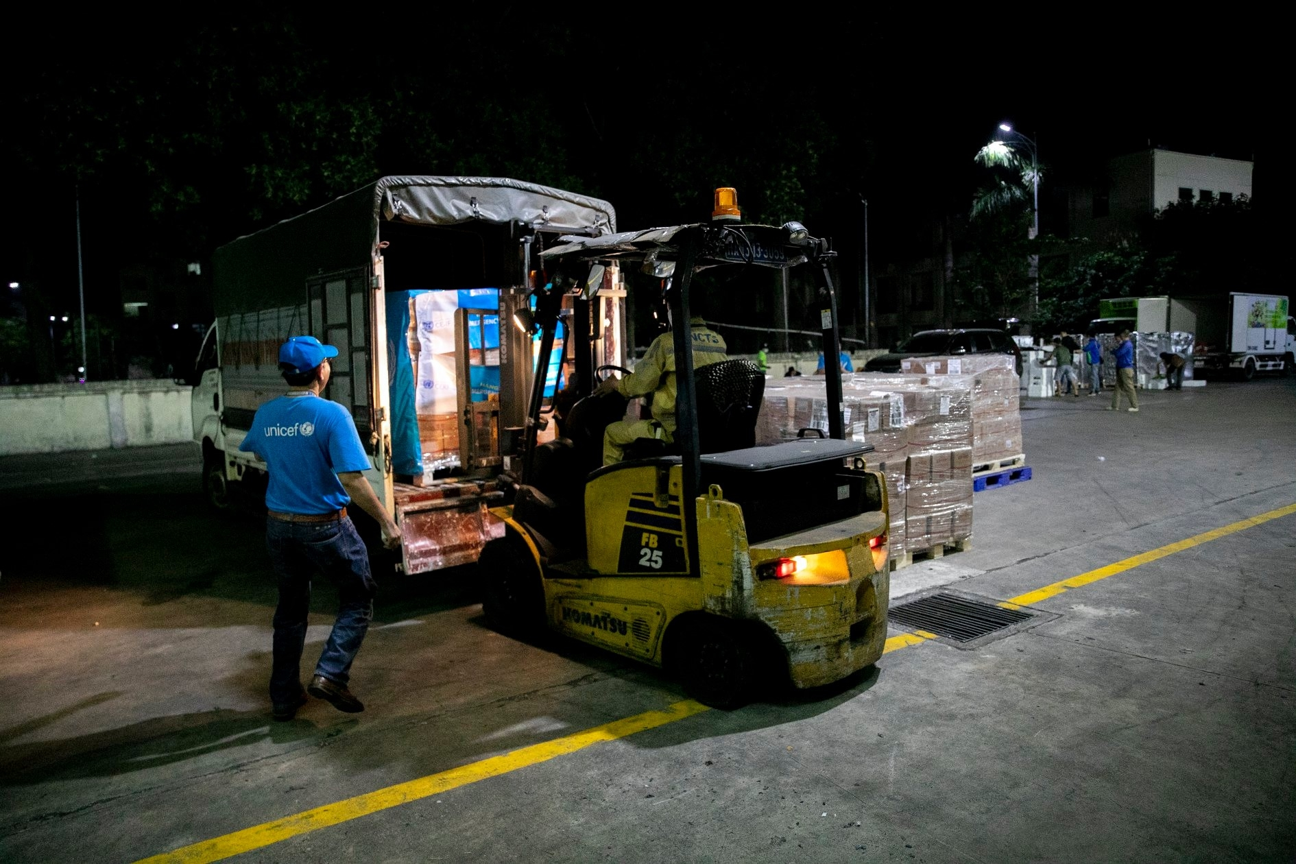 10 tons of therapeutic food for malnourished children ready to distribute central vietnam