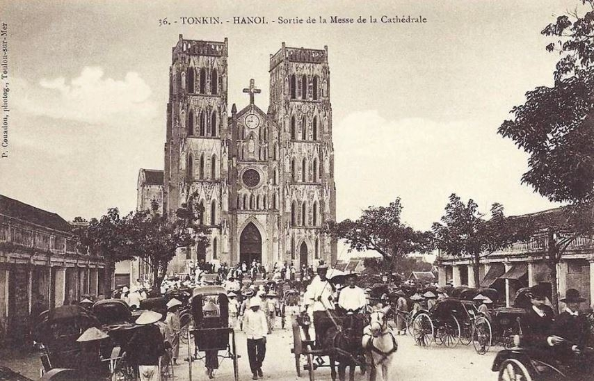 The outstanding and rustic architecture of St. Joseph's Cathedral in Hanoi