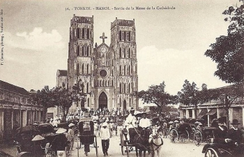 the outstanding and rustic architecture of st josephs cathedral in hanoi