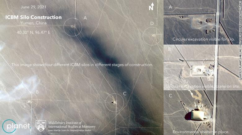 China building sprawling network of missile silos, satellite imagery shows