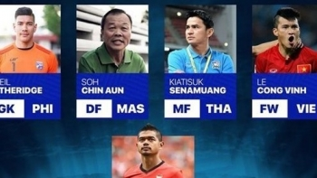 AFC honored Vietnamese striker Le Cong Vinh as