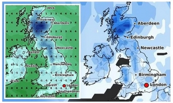 uk and europe weather forecast latest december 19 snow fall to cover over the festival period in britain