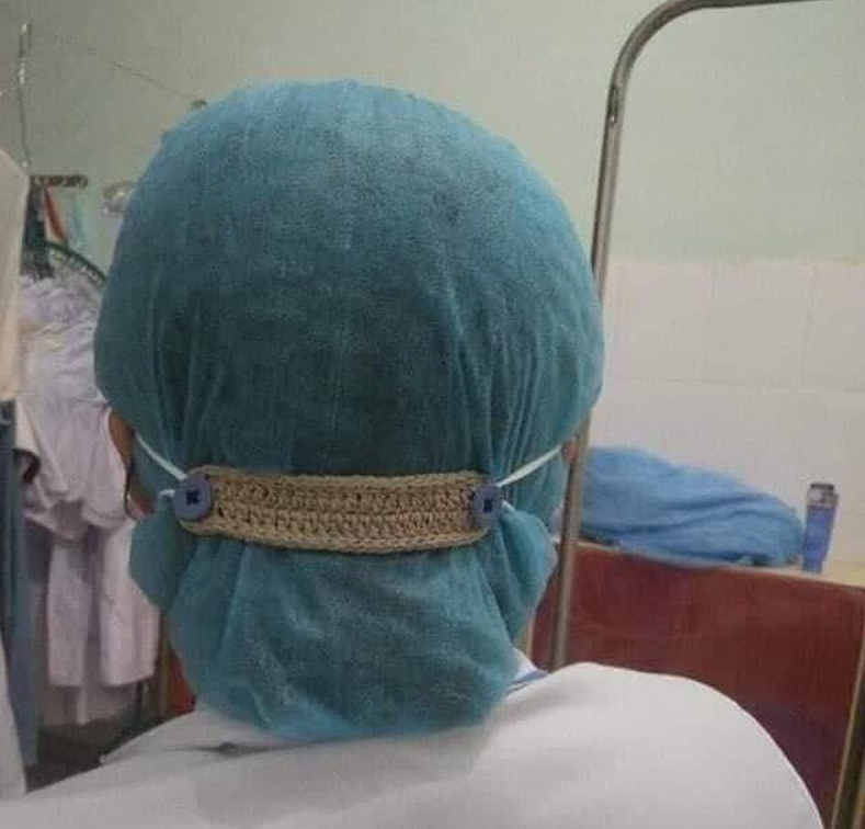 Covid-19 in Vietnan: Creative way to relieve ear ache from extensive facemask wearing