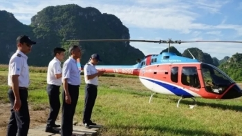 new helicopter tour launched on trang an complex